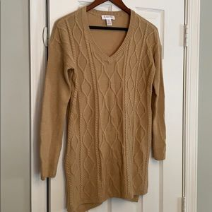 Motherhood of maternity tan sweater